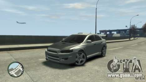 Mitsubishi Lancer Evo X Drift for GTA 4 back left view