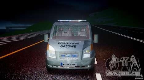Ford Transit Usluga polski gazu [ELS] for GTA 4 upper view
