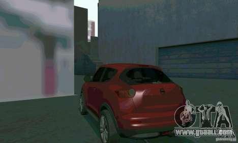 Nissan Juke for GTA San Andreas inner view