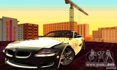 BMW Z4 E85 M for GTA San Andreas upper view