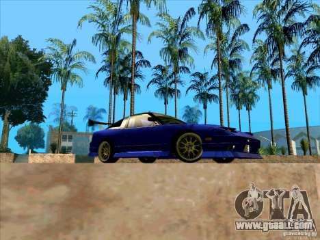Nissan 240SX Drift Team for GTA San Andreas back view