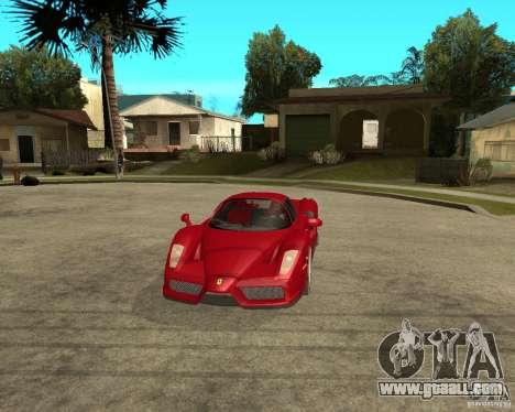Ferrari Enzo for GTA San Andreas inner view