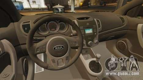 Kia Cerato Koup Edit for GTA 4 inner view