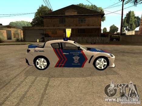 Mazda RX-8 Police for GTA San Andreas left view