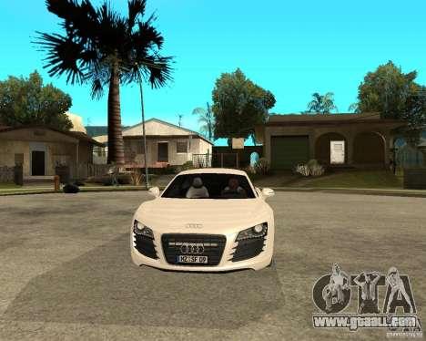 Audi R8 light tunable for GTA San Andreas back view