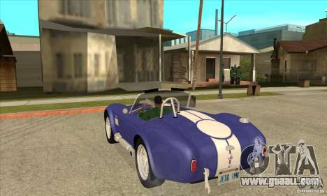AC Shelby Cobra 427 1965 for GTA San Andreas back left view