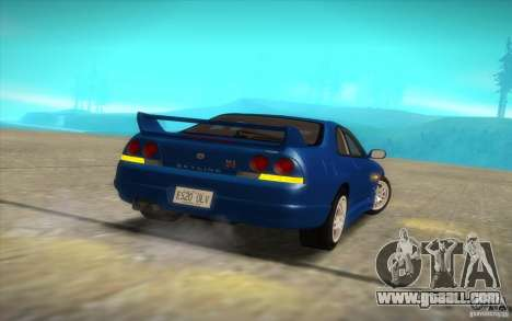 Nissan Skyline R33 GT-R V-Spec for GTA San Andreas back view