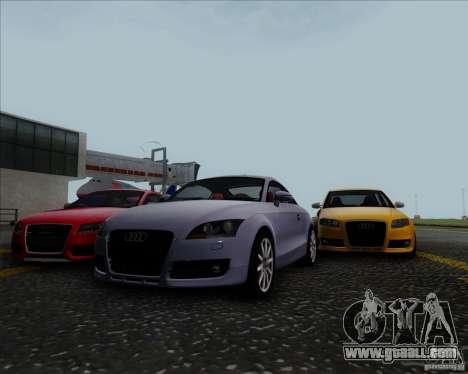 Audi TT for GTA San Andreas inner view