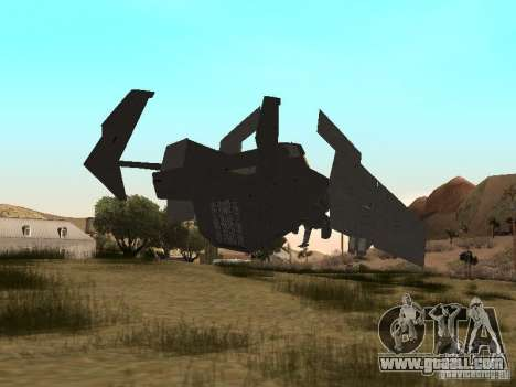Vtol Crysis for GTA San Andreas back left view