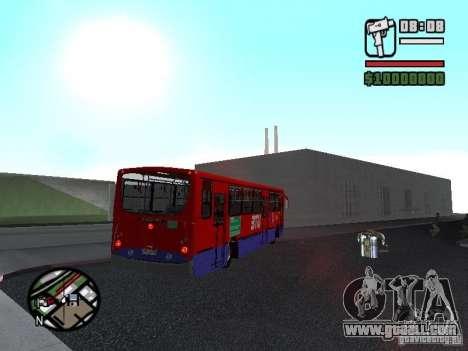 Busscar Urbanuss Pluss VW 17-230 EOD Alongado for GTA San Andreas back view