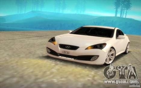 Hyundai Genesis 3.8 Coupe for GTA San Andreas right view