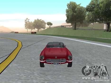 Chevrolet Corvette C1 for GTA San Andreas back view