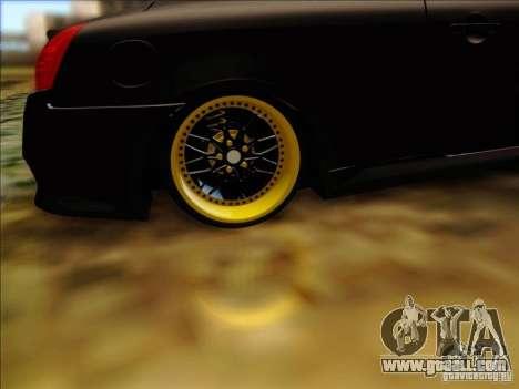 Infiniti G37 HellaFlush for GTA San Andreas inner view