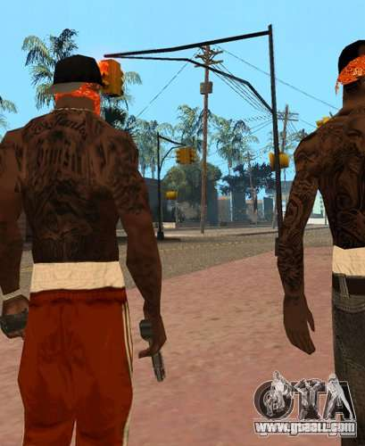 Replacement bands, tattoos, clothing, etc. for GTA San Andreas second screenshot
