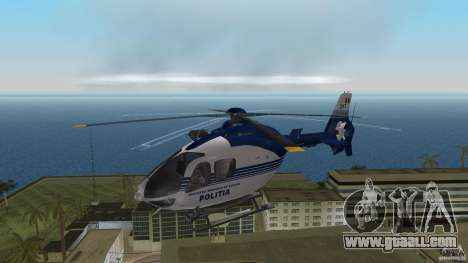 Eurocopter Ec-135 Politia Romana for GTA Vice City left view