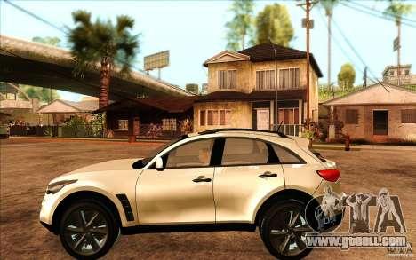 Infiniti FX50 Beta for GTA San Andreas left view