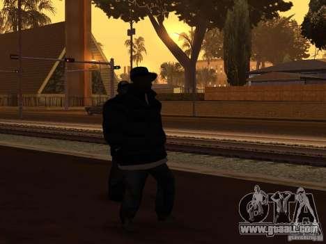 Winter clothes for Ballas for GTA San Andreas second screenshot