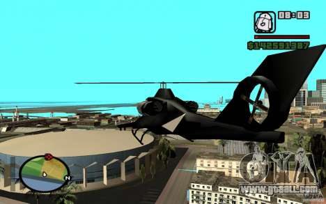 Urban Strike helicopter for GTA San Andreas right view