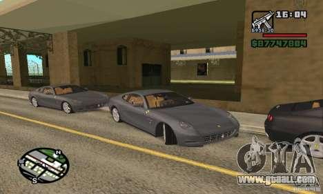 Ferrari 612 Scaglietti 2005 for GTA San Andreas back left view