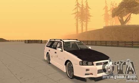 Nissan Stagea GTR for GTA San Andreas