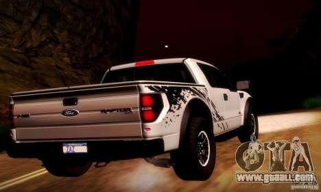 Ford F-150 SVT Raptor V1.0 for GTA San Andreas back view