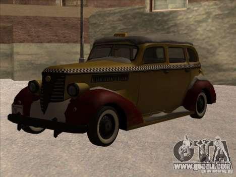 Shubert TAXI of MAFIA 2 for GTA San Andreas