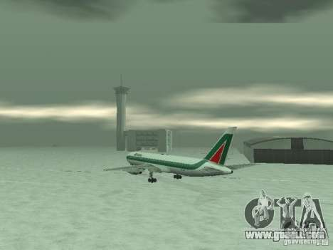 Boeing 767-300 Alitalia for GTA San Andreas right view