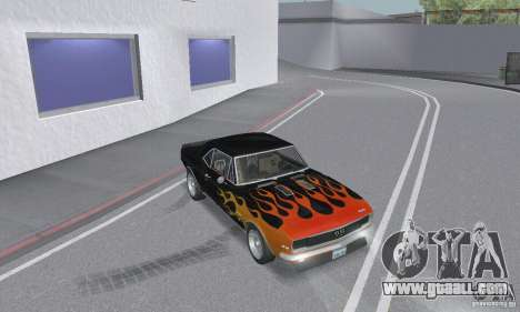 Chevrolet Camaro RSSS 1967 for GTA San Andreas side view
