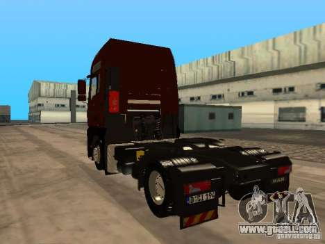 MAN TGA Vos Logistics for GTA San Andreas back left view