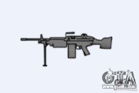 Machine Gun M249SAW for GTA 4 forth screenshot