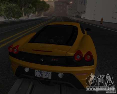 Ferrari F430 Scuderia 2007 for GTA San Andreas bottom view