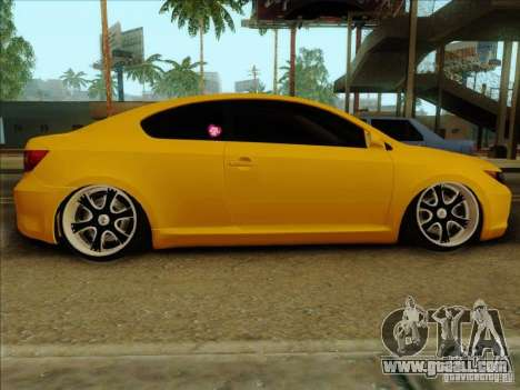 Scion tC 2012 for GTA San Andreas back left view