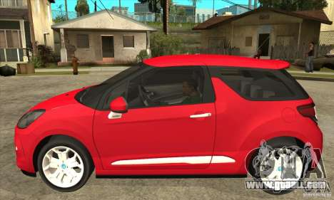 Citroen DS3 2011 for GTA San Andreas left view
