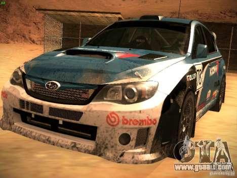 Subaru Impreza Gravel Rally for GTA San Andreas wheels