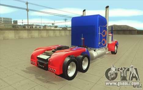 Peterbilt 379 Optimus Prime for GTA San Andreas side view
