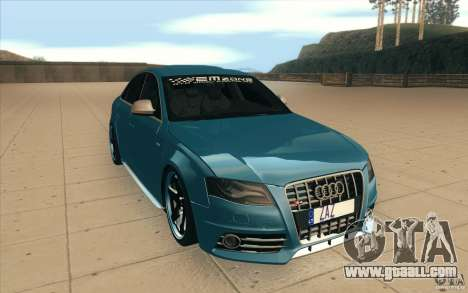 Audi S4 2009 for GTA San Andreas back view