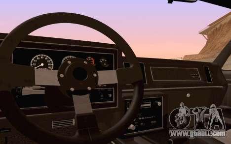 Buick GNX 1987 for GTA San Andreas wheels