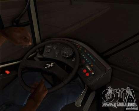 MAN SL202 for GTA San Andreas inner view