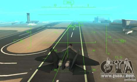 YF-22 Standart for GTA San Andreas side view