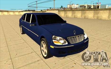 Mercedes-Benz S600 Pullman W220 for GTA San Andreas back view