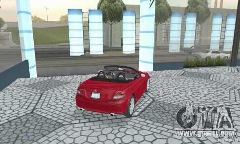 Mercedes-Benz SLK 350 for GTA San Andreas left view