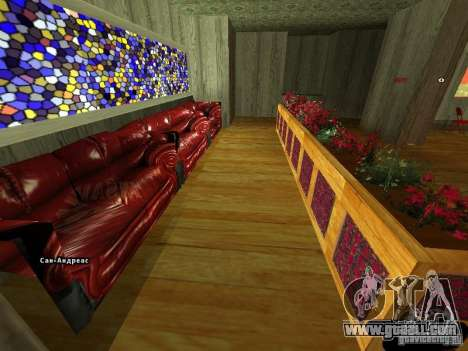 New interior Marco's Bistro for GTA San Andreas second screenshot