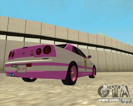 Nissan Skyline R34 Mr.SpaT for GTA San Andreas left view
