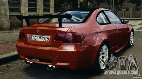 BMW M3 GTS 2010 for GTA 4 back left view