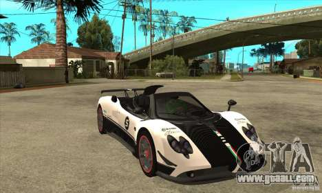 Pagani Zonda Cinque Roadster for GTA San Andreas back view
