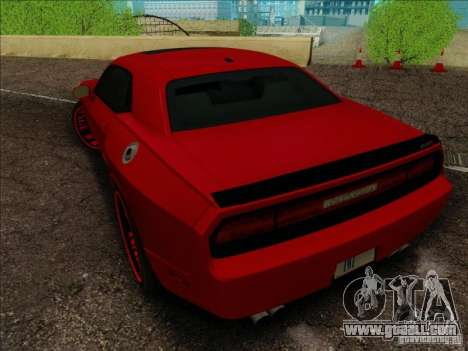 Dodge Quinton Rampage Jackson Challenger SRT8 v1 for GTA San Andreas side view