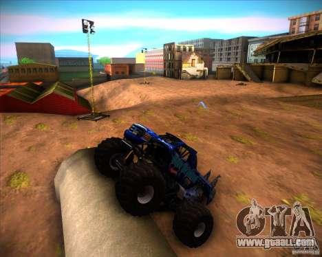 Monster Truck Blue Thunder for GTA San Andreas left view