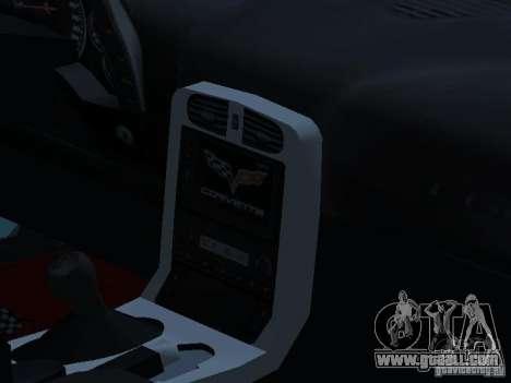Chevrolet Corvette Stingray for GTA San Andreas inner view