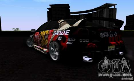 Mitsubishi Lancer Evolution X 2008 for GTA San Andreas upper view
