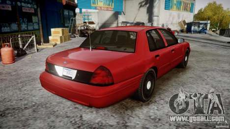 Ford Crown Victoria Detective v4.7 red lights for GTA 4 inner view